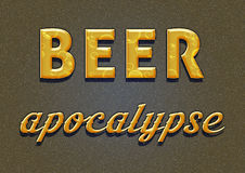 Beer apocalypse. Simple orange Beer apocalypse meme royalty free illustration