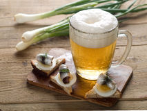 Beer with appetizer Stock Image
