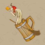 Beer baba Yaga Royalty Free Stock Image