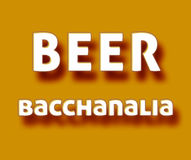 Beer Bacchanalia. Simple orange Beer bacchanalia meme vector illustration