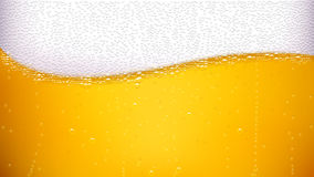 Beer back wave Royalty Free Stock Photo