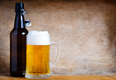 Beer background Stock Photos