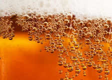 Beer background. Abstract background beverage and bubbles Stock Photos