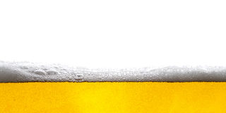 Beer background. Bubbles. Close Up of Beer Foam Stock Images