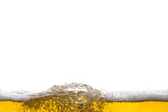 Beer background. Bubbles. Close Up of Beer Foam Royalty Free Stock Images