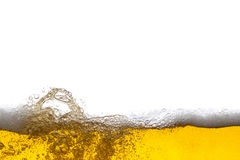 Beer background. Bubbles. Close Up of Beer Foam Stock Photography