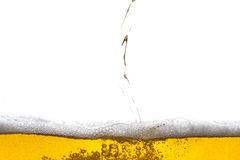 Beer background. Bubbles. Close Up of Beer Foam Royalty Free Stock Photo