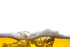 Beer background. Bubbles. Close Up of Beer Foam Royalty Free Stock Photography