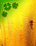 Beer background with clover border Stock Images