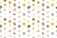 Beer background from color icon. Multicolor vector pattern Stock Photos