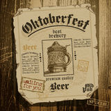 Beer background Oktoberfest, Royalty Free Stock Photo