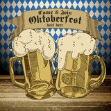 Beer background Oktoberfest, Royalty Free Stock Images
