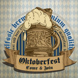 Beer background Oktoberfest, Stock Images
