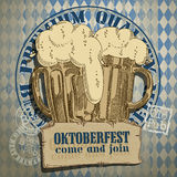 Beer background Oktoberfest, Stock Photo