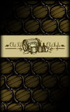 Beer background in old style Royalty Free Stock Photography