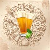 Beer background Stock Photos