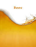 Beer background. The beer background with splash Stock Photo