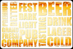 Beer background text Royalty Free Stock Photo