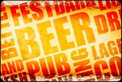 Beer background text Royalty Free Stock Photos