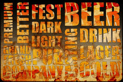 Beer background text. Beer text on grunge background vector illustration