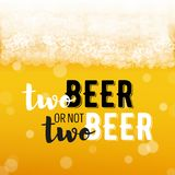 Beer background with text Stock Image