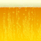 Beer background texture with foam and bubbles Royalty Free Stock Photography