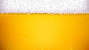 Beer background wide. Illustration of lager beer background with a lot of bubbles Stock Photo