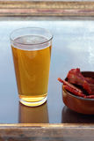 Beer and bacon. Royalty Free Stock Photos