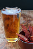Beer and bacon. Royalty Free Stock Photography