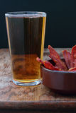 Beer and bacon. Stock Images
