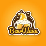 Beer badge design for bar pub or tavern Stock Image
