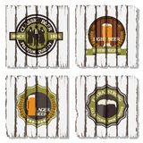 Beer badges and labels Stock Image