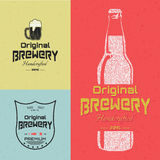 Beer badges logos and labels for any use Royalty Free Stock Photography