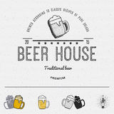 Beer badges logos and labels for any use Royalty Free Stock Images