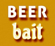 Beer bait. Simple orange Beer bait meme royalty free illustration