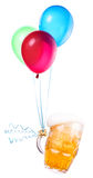 Beer with balloons Stock Photography