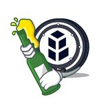 With beer bancor coin mascot cartoon. Vector illustration Royalty Free Stock Image