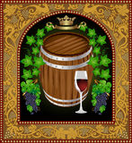 Beer banner barrel advertising wine Royalty Free Stock Photo