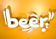 Beer banner Royalty Free Stock Photo