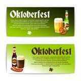 Beer Banner Horizontal Set Stock Photo