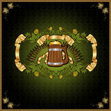 Beer banner label background Stock Photo