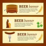 Beer banner set Stock Photos