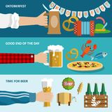 Beer banner set Royalty Free Stock Photography