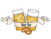 Beer bar banner in retro style Stock Image