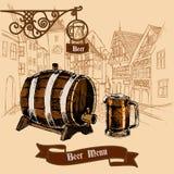 Beer bar menu sketch Royalty Free Stock Photo