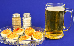 Beer and Bar Snacks Royalty Free Stock Photo