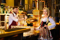 Beer bar. Working people in a bar Stock Image