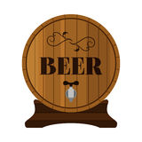Beer barrel. Alcohol drink in flat style design. Vector illustration Stock Photo