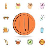 beer Barrel colored sketch style icon. Detailed set of color beer in hand drawn style icons. Premium graphic design. One of the stock illustration