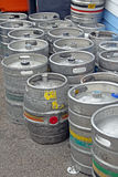 Beer barrel containers Stock Photos